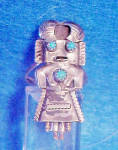Click here to enlarge image and see more about item JJ114: Kachina SS Ring - Native American