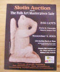 Click here to enlarge image and see more about item MM216: Slotin Folk Art Auction Catalog - Nov. 2005