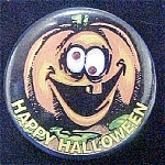 Click to view larger image of Happy Halloween Blinking Pin (Image1)
