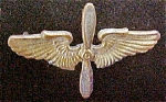 Click here to enlarge image and see more about item P114: Vintage Metal Aviation Cadet Cap Pin