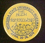 Click here to enlarge image and see more about item P131: Montana State University - Bozeman Pin Back