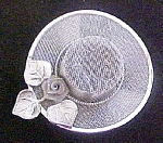 Click to view larger image of Silver Toned Mesh Hat Pin (Image1)