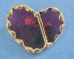 Click here to enlarge image and see more about item P142: Stained Glass Heart Pin