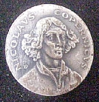 Click here to enlarge image and see more about item P144: Astronomer Nicolaus Copernicus Lapel Pin
