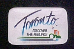Click here to enlarge image and see more about item P150: Toronto - Discover The Feeling Pin Back