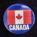 Click here to enlarge image and see more about item P152: Canada Pin-Back With Canadian Flag