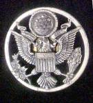 Click here to enlarge image and see more about item P159: Vintage U.S. Military Uniform Hat Pin