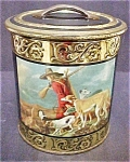 Vintage Decorative Hunting Scene Tin