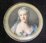 English Portrait Tin Container