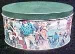 Victorian Skating Scene Tin - Signed/Dated