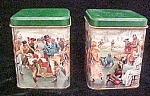 Victorian Period Skating Scene - Pair of Tins