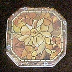 Click to view larger image of Vintage Classic Stained Glass Style Tin (Image1)