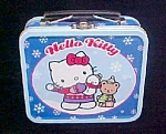 Click here to enlarge image and see more about item T700: Hello Kitty Small Tin Lunch Box