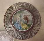 Click to view larger image of Vintage  Round Tin w/Period Scene (Image3)