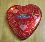 Click here to enlarge image and see more about item T746: Ghirardelli Luscious Heart Tin - Advertising