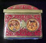 Click to view larger image of German Treasure Chest Style Tin - Angels (Image3)