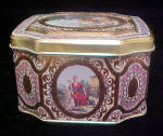 Click to view larger image of Period Tin Featuring Cupid - 8 Sided (Image2)