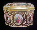 Click to view larger image of Period Tin Featuring Cupid - 8 Sided (Image3)