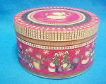 Click to view larger image of Skating Owl Metal Round Tin Container (Image2)