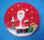 Click here to enlarge image and see more about item T792: Santa Claus Tin Container - 3D