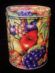 Click to view larger image of Fruit Design Round Tin Container (Image1)