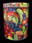 Click to view larger image of Fruit Design Round Tin Container (Image2)