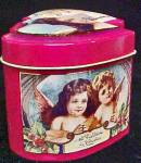 Click to view larger image of Double Heart Christmas Tin w/Angel Theme (Image4)
