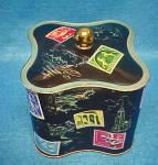 Click to view larger image of West German Tin - Stamp Motif (Image1)