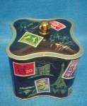 Click to view larger image of West German Tin - Stamp Motif (Image3)