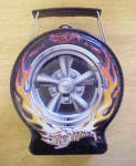 Click to view larger image of Hot Wheels - Flaming Black Tire Tin (Image1)