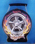 Click to view larger image of Hot Wheels - Flaming Black Tire Tin (Image2)