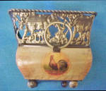 Click to view larger image of Tin Container - Open Rectangular Vase (Image4)