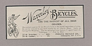 Matted Waverley Bicycles Ad