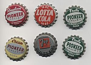 Six Cork-lined Soda Bottle Caps