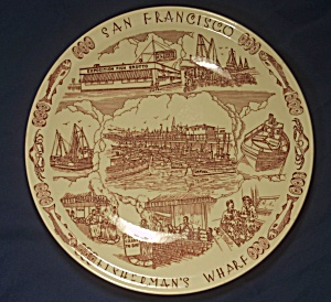Vernon Kilns Fisherman's Wharf Souvenir Plate (Image1)
