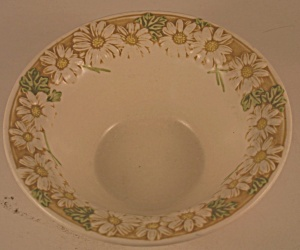Metlox Sculptured Daisy Cereal Bowl