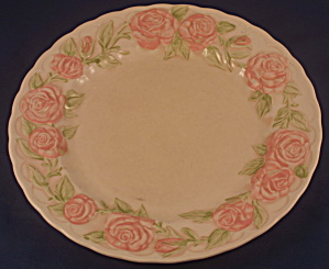 Vernon Rose Pink Dinner Plate (Stained, Paint Flakes)