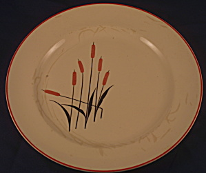 Cattail Camwood Luncheon Plate (Stained)