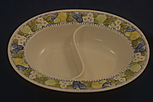 Vernonware/metlox Florence Oval Divided Vegetable Dish