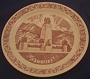 "Vernon Kilns Utah ""this Is The Place"" Plate"