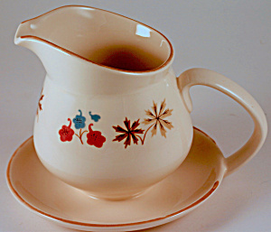 Franciscan Larkspur Gravy Boat With Attached Underplate