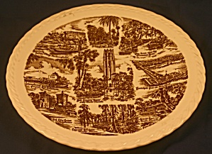 Vernon Kilns Florida Empire of the Sun Plate (Image1)