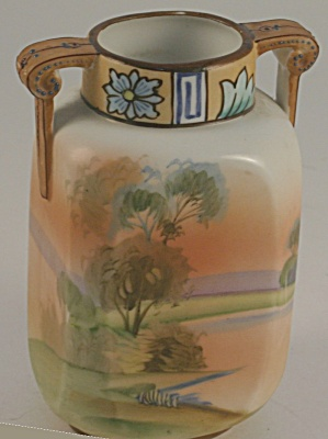 Small Nippon Noritake Hand-painted Urn