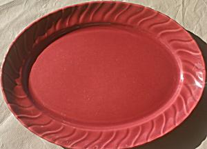 Franciscan Coronado Glossy Burgundy/Maroon Platter (Image1)