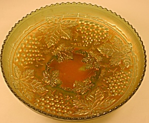 Green Northwood Grape And Cable Ice Cream Bowl