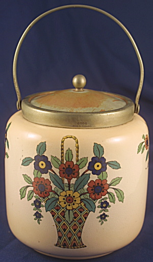 English Art Deco Biscuit Jar (Image1)