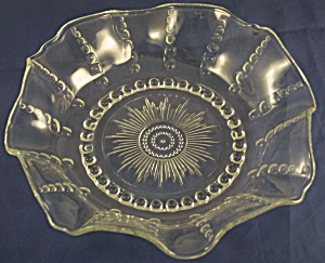 Federal Glass Columbia Ruffled Bowl (Image1)