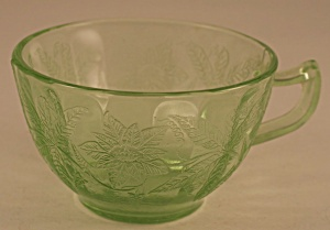"Jeannette Glass Co. Floral ""poinsettia"" Cup"