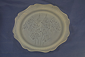 Frosted Iris & Herringbone Lunch Plate (Image1)