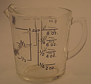 Clear Fire-King One Cup Measuring Cup (Image1)